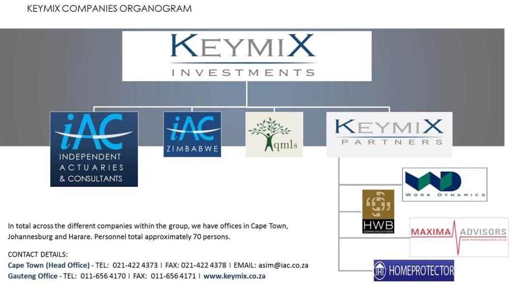 KEYMIX COMPANIES ORGANOGRAM